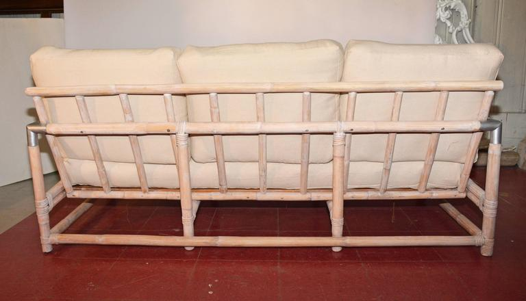 Mid Century Ficks Reed Bamboo Sofa For Sale At 1stdibs