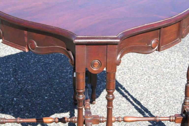 Mahogany Game Table 2