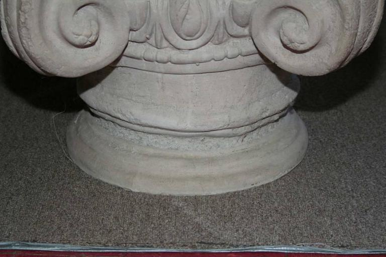 Pair of Cast Concrete Capital Coffee Table or Side Table 4