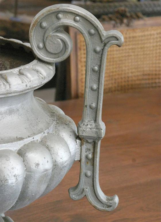 Pair of lovely classical style French urns. Great as centre piece or console piece. Can be sold individually.