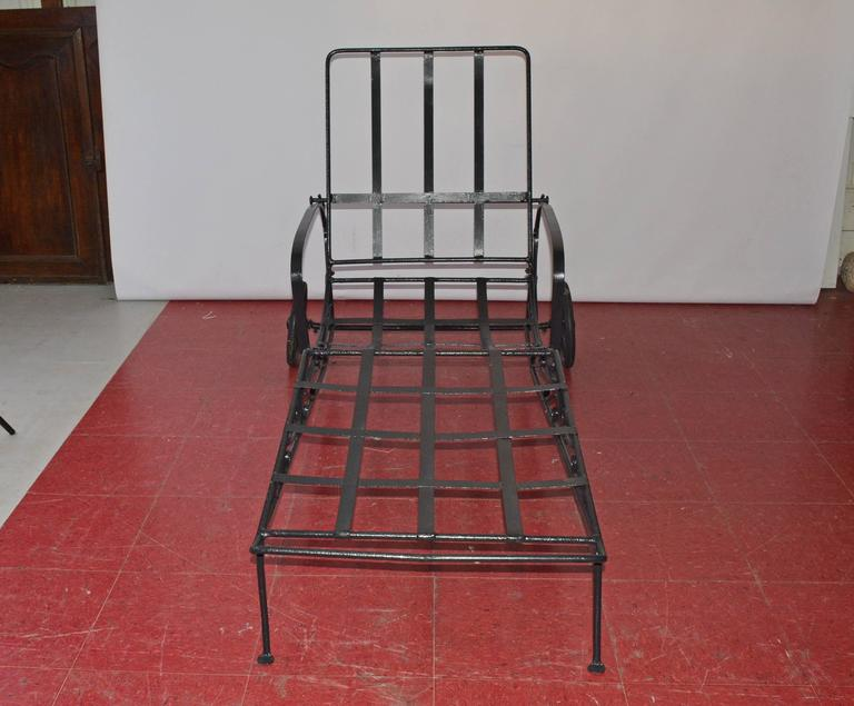 Vintage Wrought Iron Chaise Longue For Sale At 1stdibs