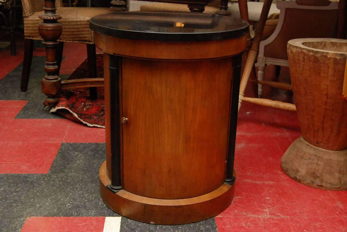 Classic Round Drum Occasional Side Table For Sale At 1stdibs