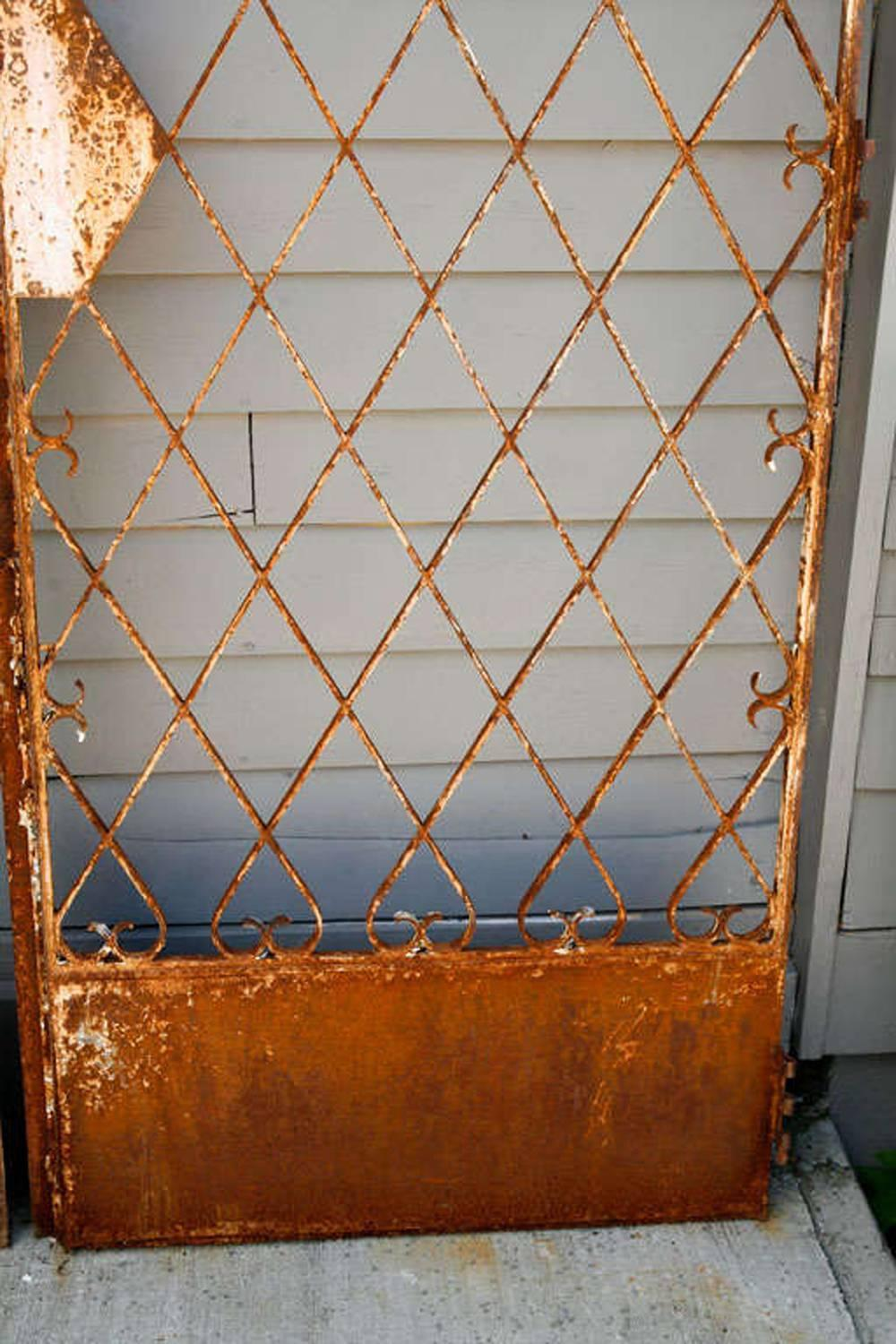 Pair of French Metal Garden Gates For Sale at 1stdibs