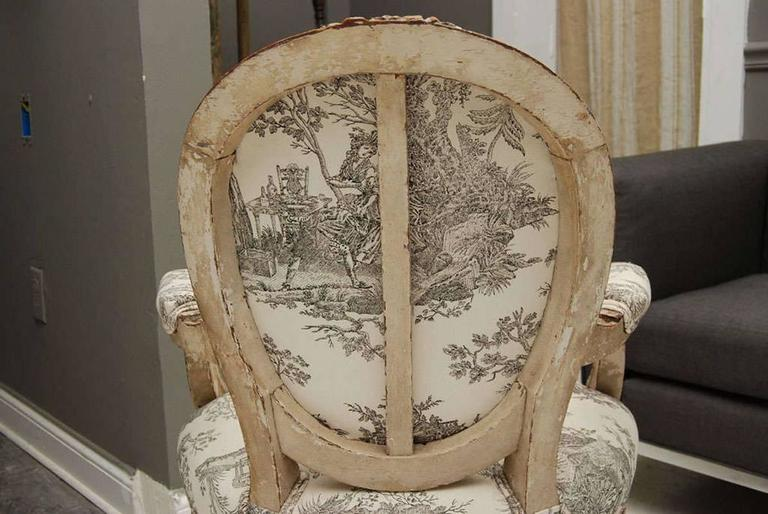 Louis XVI Style Painted Fauteuil 4