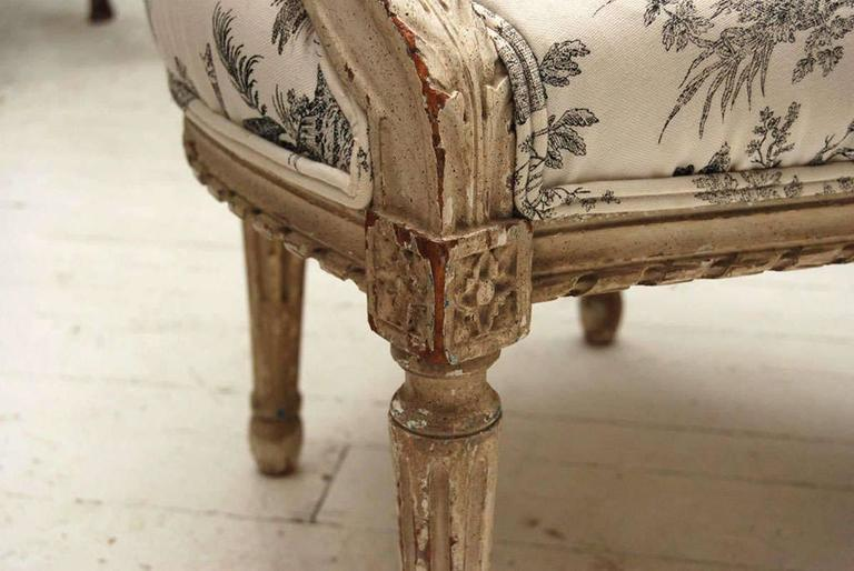 Louis XVI Style Painted Fauteuil 2