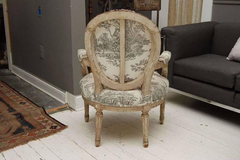 Louis XVI Style Painted Fauteuil 5