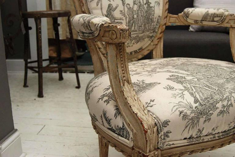 Louis XVI Style Painted Fauteuil 3