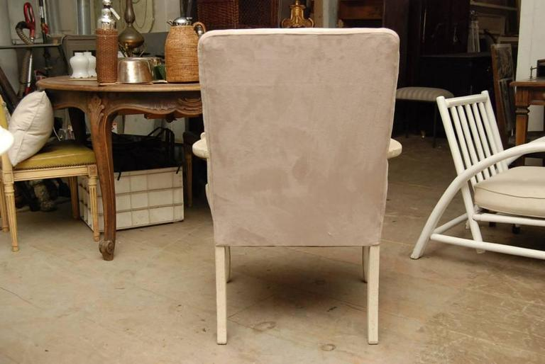 Louis XV Style Painted Fauteuil In Good Condition For Sale In Great Barrington, MA