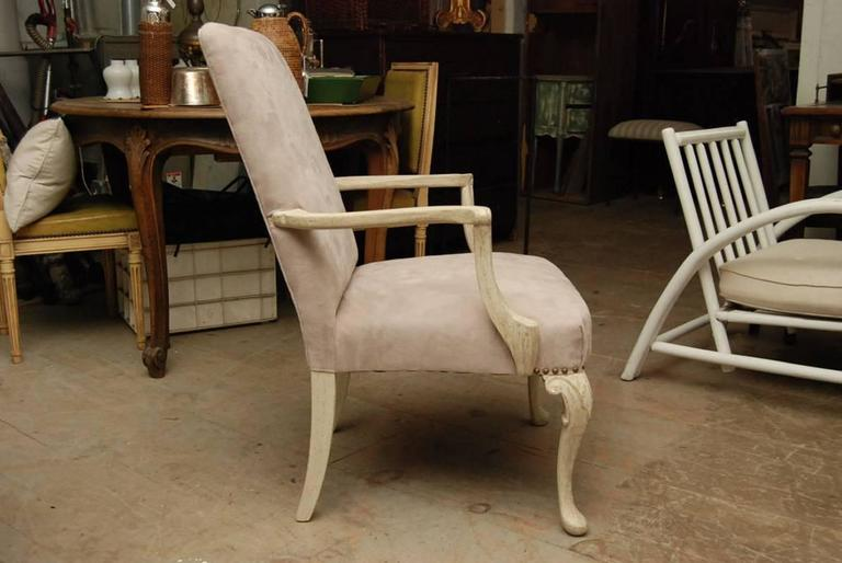 20th Century Louis XV Style Painted Fauteuil For Sale