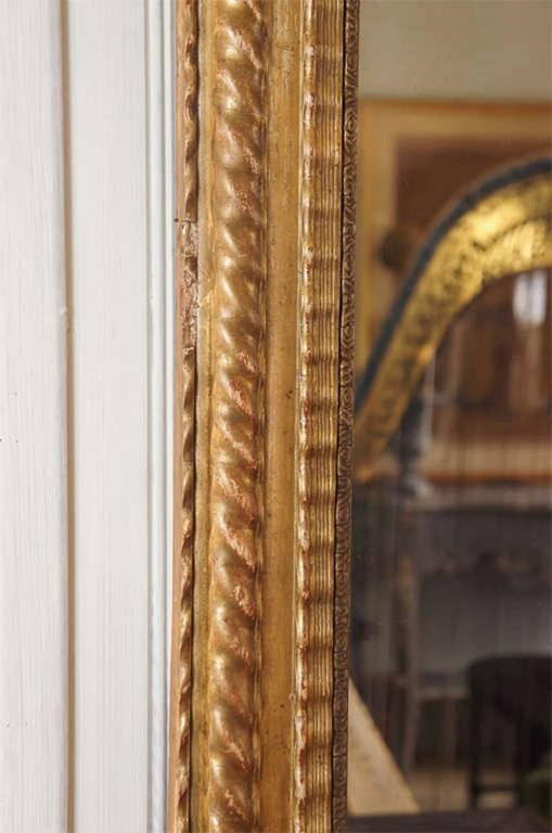 Baroque French Giltwood Mirror For Sale