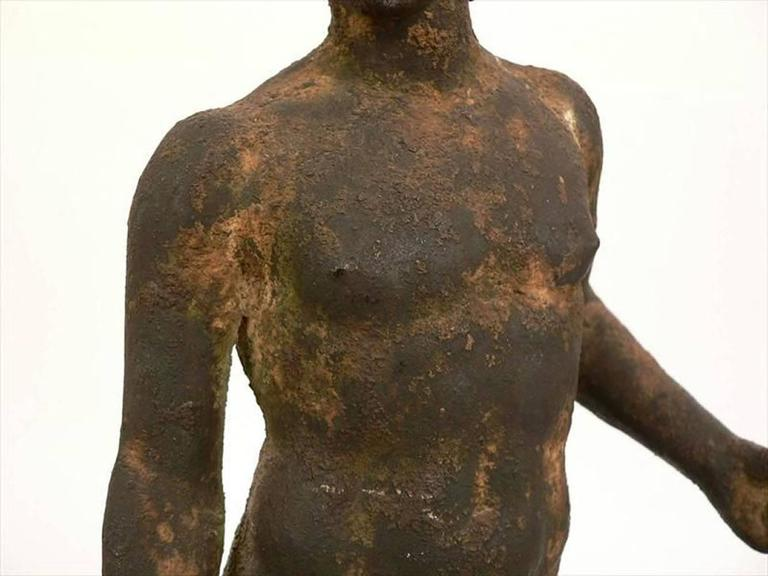 19th Century Classical Bronze Male Nude Sculpture For Sale