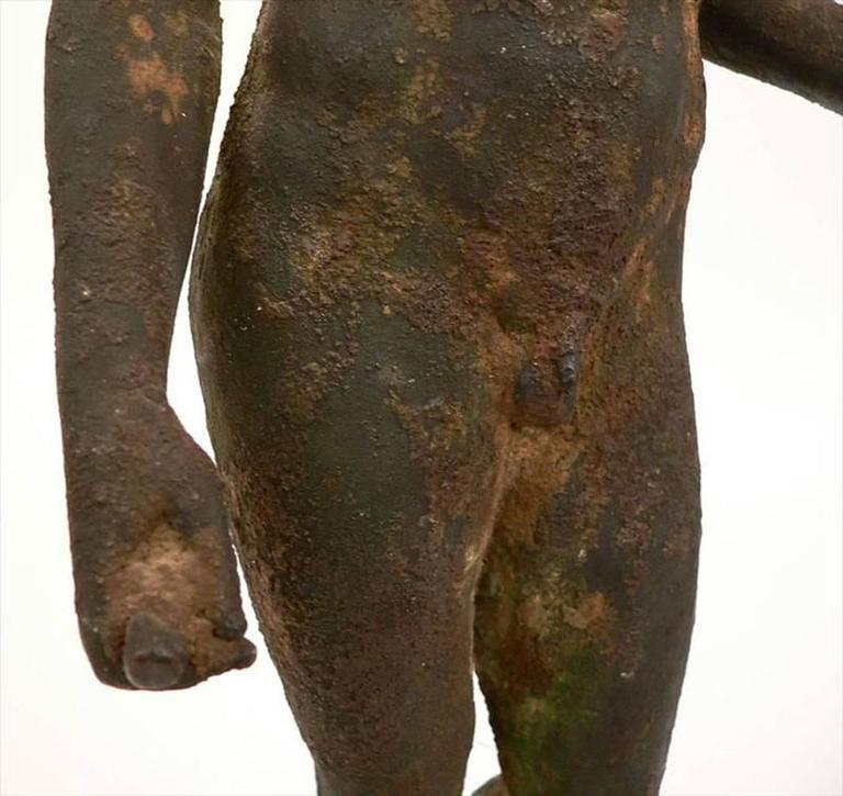 Classical Bronze Male Nude Sculpture For Sale 2