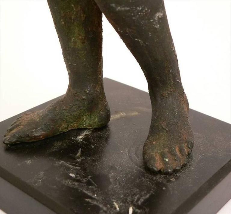 Classical Bronze Male Nude Sculpture For Sale 3