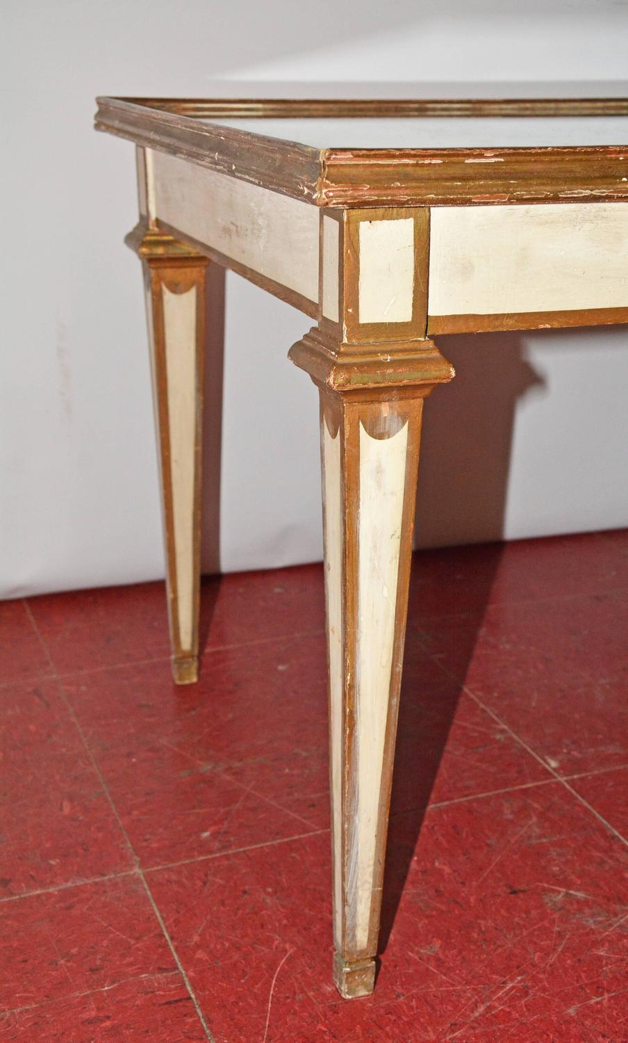 classical moderne mirrored coffee or side table for sale at 1stdibs. Black Bedroom Furniture Sets. Home Design Ideas