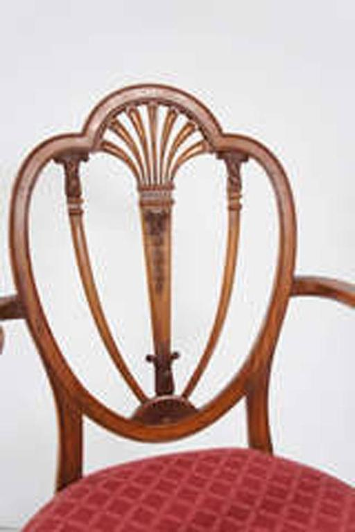 Mahogany Hepplewhite Armchair For Sale