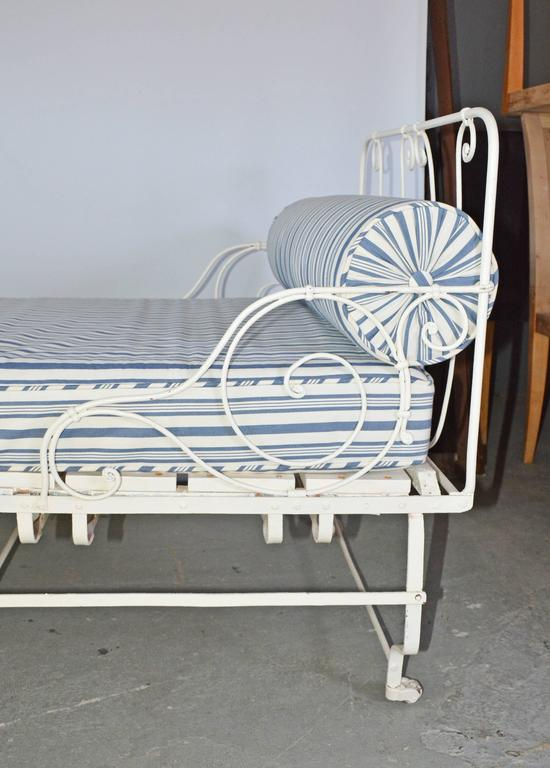 Campaign Unusual 19th Century French Center Folding Daybed For Sale
