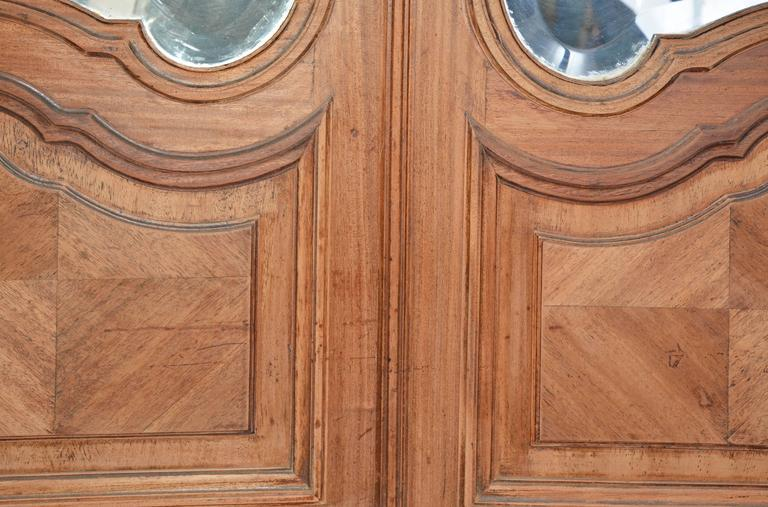 Pair Of French Rococo Mirrored Armoire Doors For Sale At
