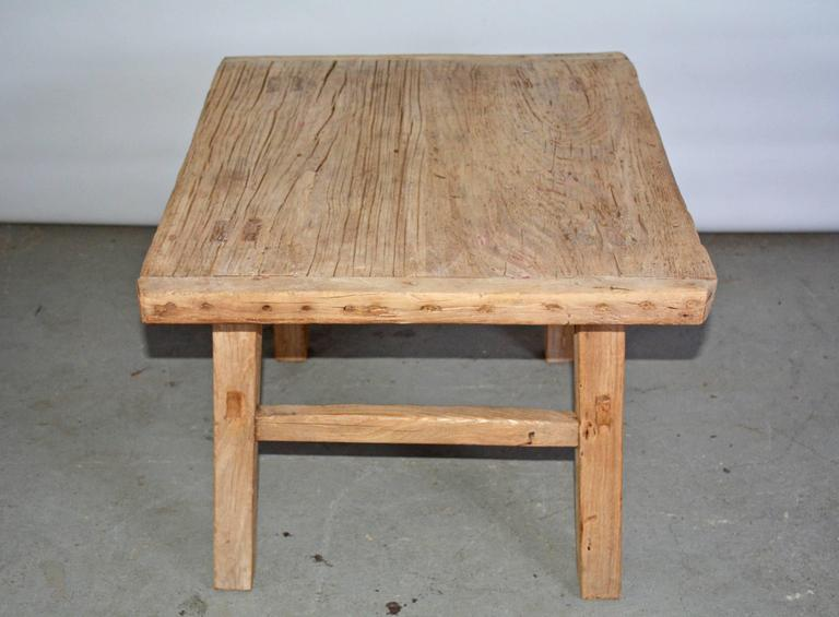 Rustic Teak Indoor or Outdoor Coffee Table or Seat For ...