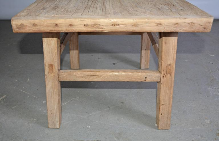 Hand-Crafted Rustic Teak Indoor or Outdoor Coffee or Side Table For Sale