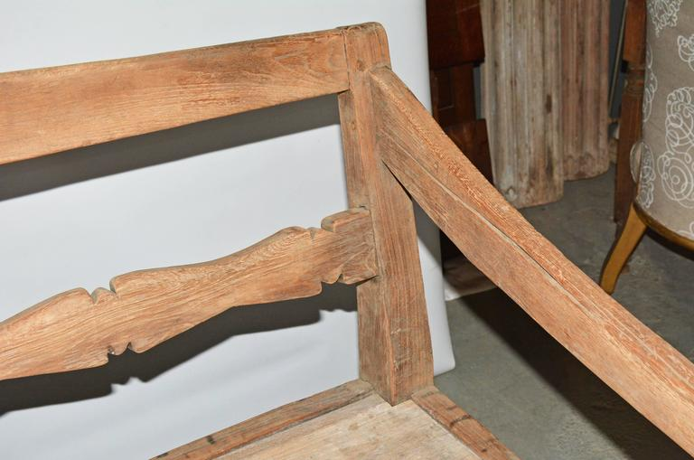 Indonesian Antique Asian Teak Daybed Bench For Sale
