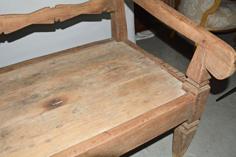 Antique Asian Teak Daybed Bench 5