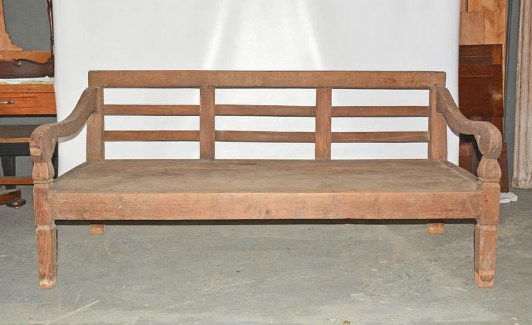 colonial handcarved teak wood daybed bench 2