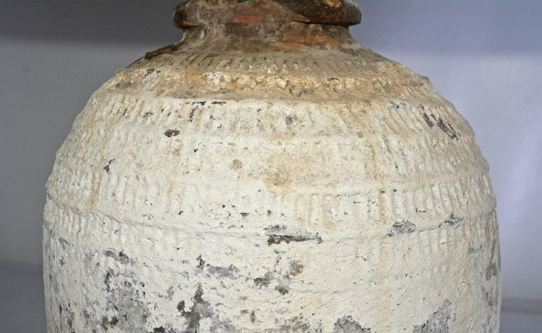 Large Chinese Storage Jar Lamps with Shades, Pair 3