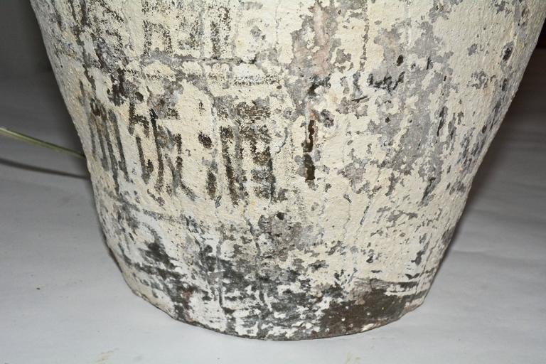 Hand-Crafted Large Chinese Storage Jar Lamps with Shades, Pair For Sale
