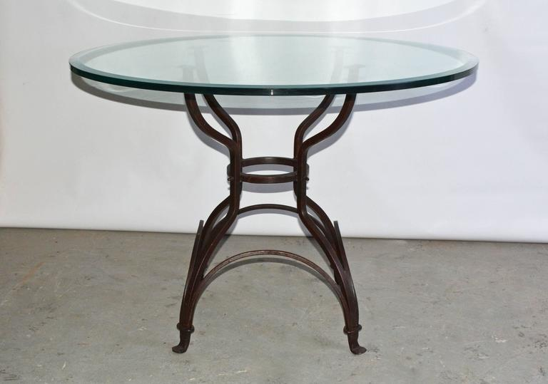 Garden Metal Base Glass Top Dining Table For Sale at 1stdibs : DSC6739l from www.1stdibs.com size 768 x 539 jpeg 32kB