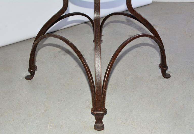 Garden Metal Base Glass Top Dining Table In Good Condition For Sale In Great Barrington, MA