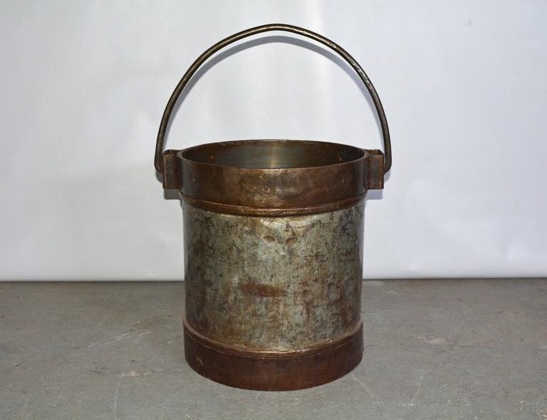 Unknown Antique Industrial Metal Bucket Table Base For Sale