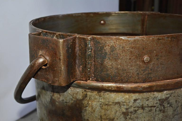 Antique Industrial Metal Bucket Table Base In Good Condition For Sale In Great Barrington, MA