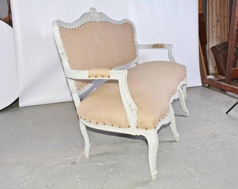 Hand-Painted 19th Century Louis XV Settee For Sale