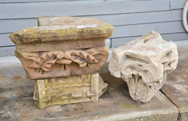 Two Early Architectural Stone Capital 2