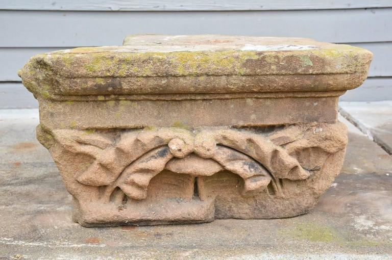 Other Two Early Architectural Stone Capital For Sale