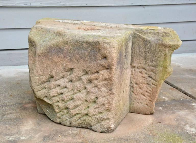 Hand-Carved Two Early Architectural Stone Capital For Sale