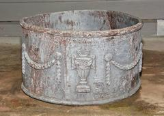 Antique Lead Planter with Drainage Hole