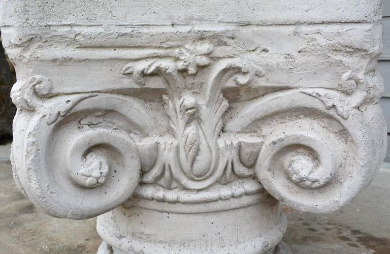 Antique Ionic Stone Pedestal 4
