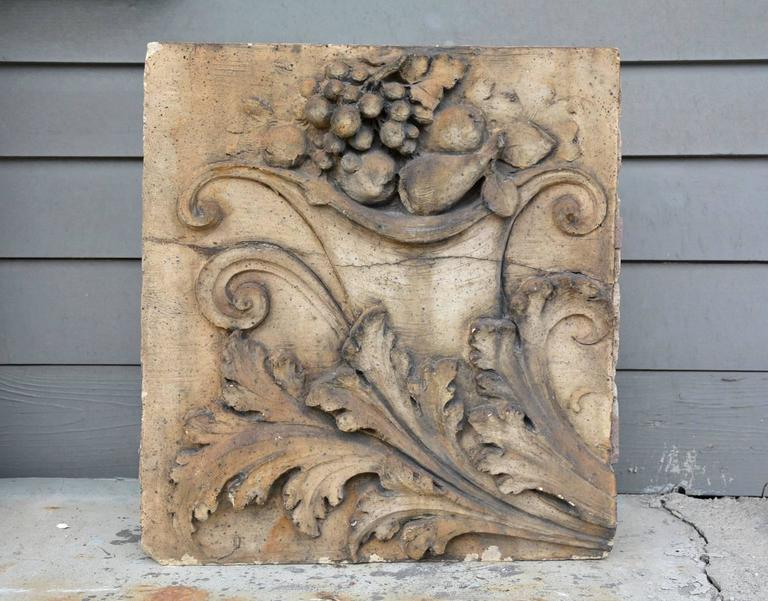 American Pair of Antique Terracotta Architectural Building Elements For Sale