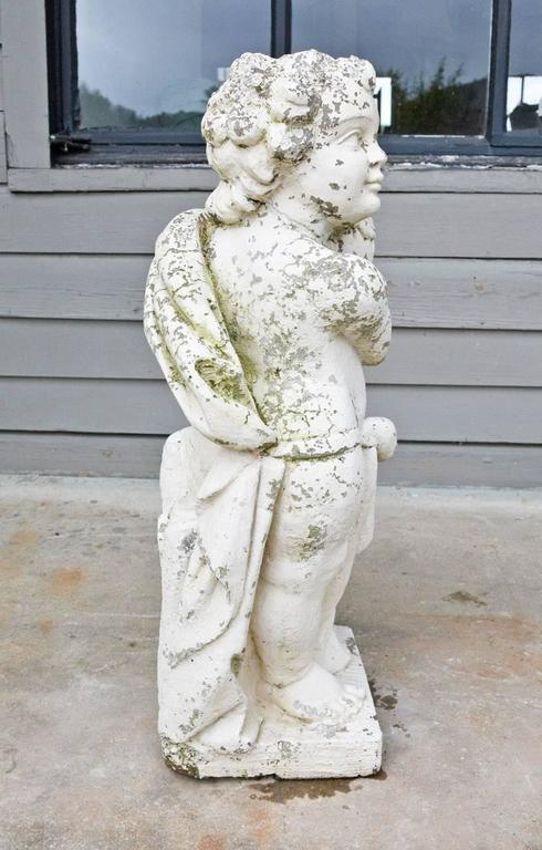 High Victorian Victorian Garden Stone Putti For Sale