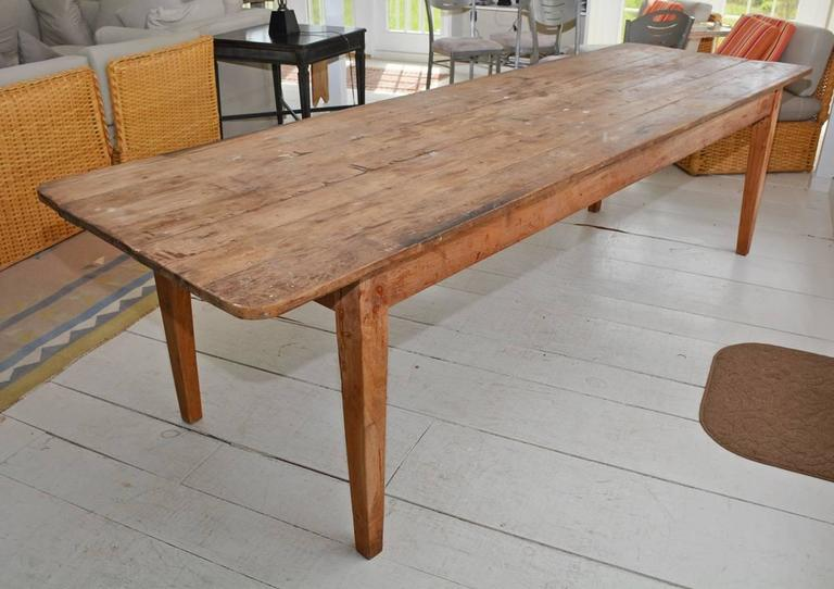 Rustic Antique American Country Harvest Table For Sale
