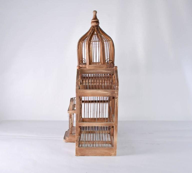 Neoclassical Antique Architectural Bird Cage For Sale