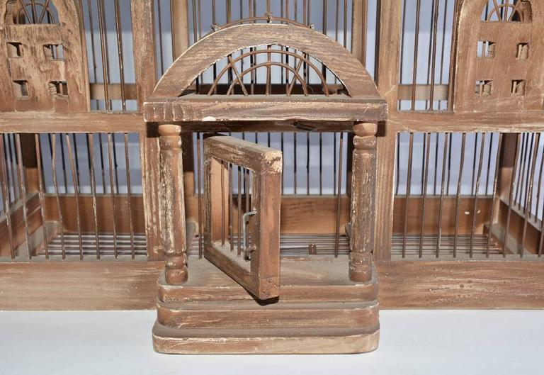 Antique Architectural Bird Cage In Good Condition For Sale In Great Barrington, MA