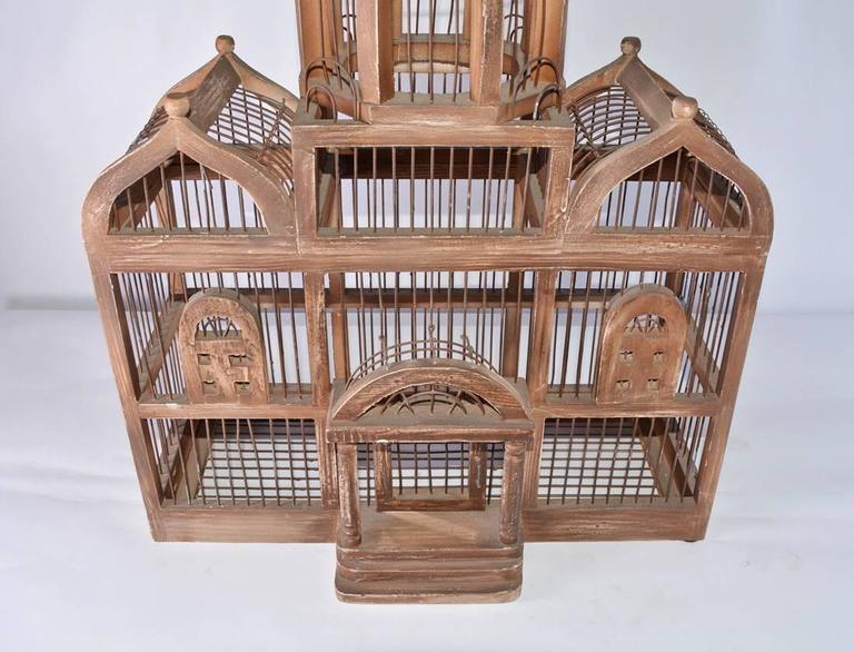 Hand-Crafted Antique Architectural Bird Cage For Sale