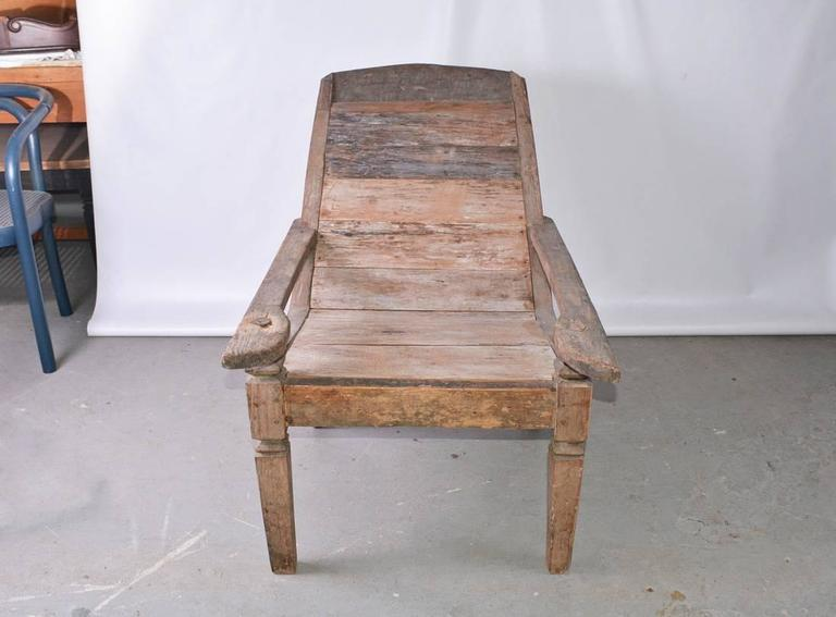 British Colonial Anglo Indian Teak Plantation Chair For Sale - Anglo Indian Teak Plantation Chair For Sale At 1stdibs
