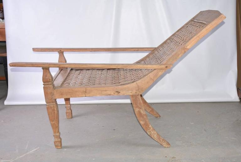 Anglo-Indian Teak Plantation Chair In Good Condition For Sale In Great Barrington, MA