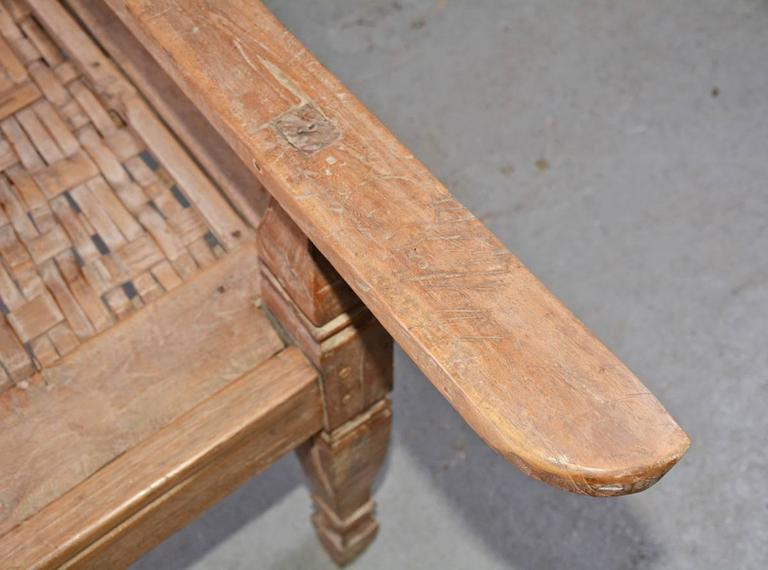 Anglo-Indian Teak Plantation Chair For Sale 4