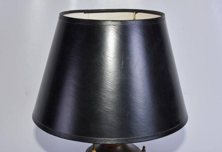 Bronze French Empire Style Table or Desk Lamp For Sale