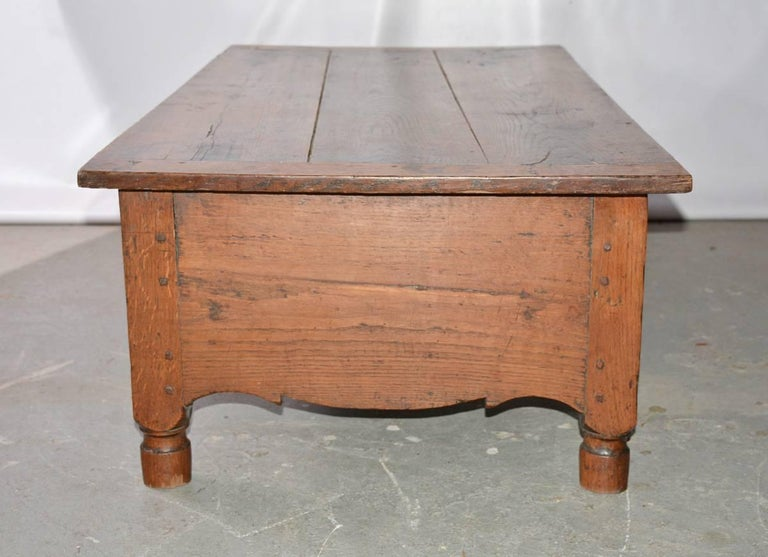 Oak French Directoire Coffee Work Table For Sale