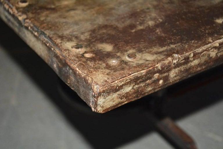 19th Century Cast Iron Metal Top Indoor or Outdoor Garden Coffee Table For Sale